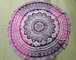 Yoga Mat Mandala Round Beach Throw Towel