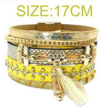 Leather bracelet 5 colors, 3 sizes charm bracelets