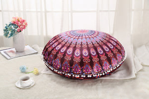 Colorful Mandala Floor Pillows Ottoman