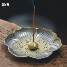 1Pcs Creative Home Decor Lotus Plum Blossom Alloy Censer Incense Coil Burner