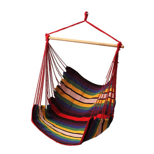 Garden Patio Porch Hanging Cotton Rope Swing Chair Outdoor Indoor