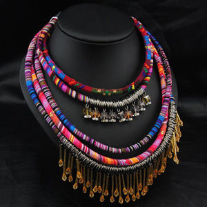 Mutilayer necklace & pendants ethnic colorful