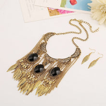 LZHLQ Bohemian Long Tassel Necklaces Women Vintage Leaf Necklace  Ethnic Hollow Accessories Resin Chain Metal Plated Jewelry