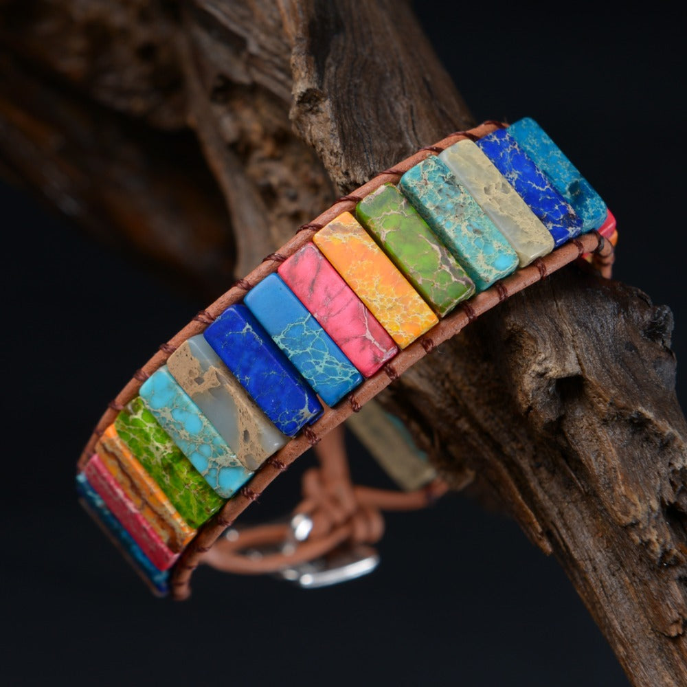 Multicolor Natural Stone Wrap Bracelet
