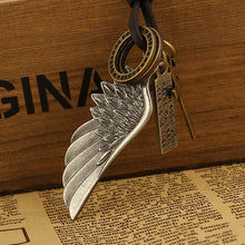 Collection Leather Men Necklaces Pendants