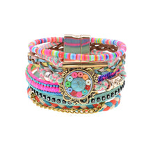 Women Bracelets Leather bracelets Bohemia colorful beaded