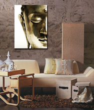 Golden Buddha Joss Canvas Art Meditation Painting