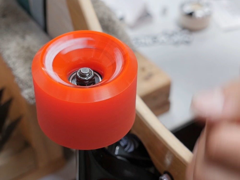 Wheels should spin freely, quietly, and quickly if the install was successful.