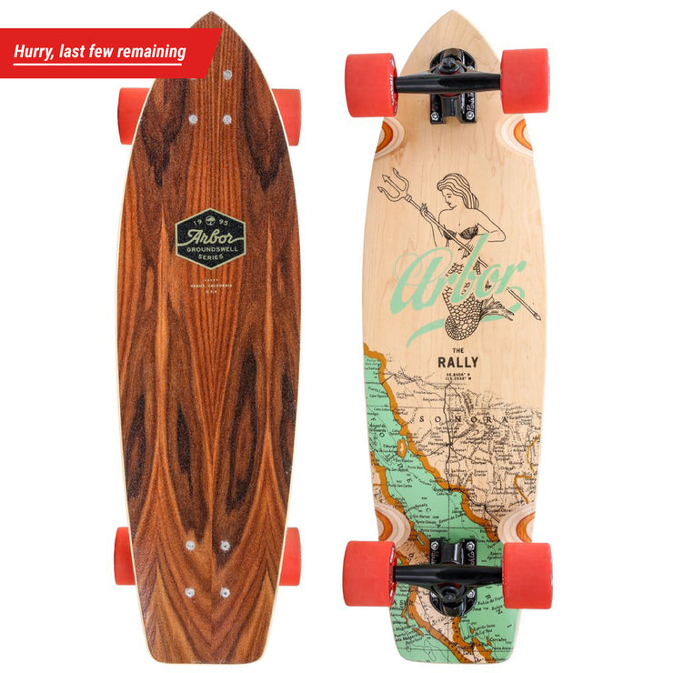 Arbor & Fireball Rally Longboard Skateboard, Complete - Hurry, last few