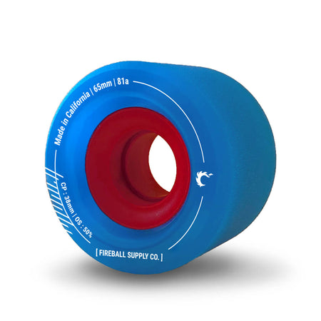 Fireball Tinder 65mm 81a Wheel Set, Blue