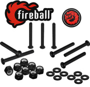 Fireball Dragon Stainless Steel Skateboard Hardware Set, Black