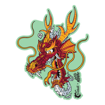 "Fireball x Lei Melendres ""Mech Dragon"" Sticker"