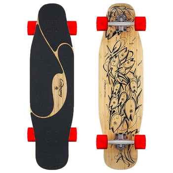 Loaded & Fireball Poke Longboard, Complete