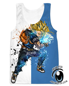 Dragon Ball Z Tank Tops - SSJ Goku Streetwear Gym Shirt - Clothing