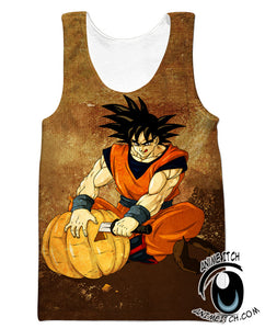 Dragon Ball Z Tank Tops - Halloween Goku Gym Shirt - Clothing