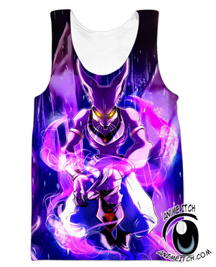 Dragon Ball Z Tank Tops - GoD Beerus Gym Shirt - Clothing