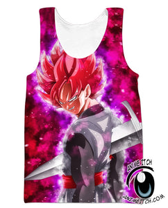 Super Saiyan rose goku black tank top