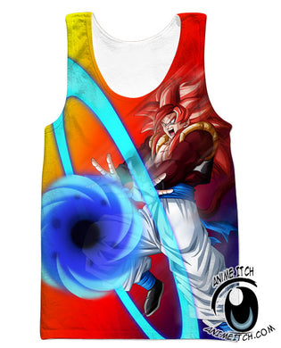 Big Bang Kamehameha Gogeta Tank Top - Dragon Ball Z Gym Shirts Clothing