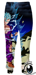 Dragon Ball Z Sweatpants - Super Saiyan Blue Gohan Sweatpants - Printed Clothing