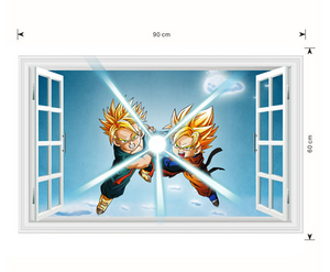 Dragon Ball Z Wall Stickers -  SSJ Goten and Trunks Wallpaper 60x90 CM