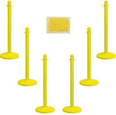 Plastic Stanchion Post & Chain Sets