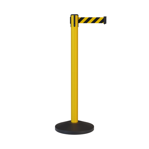 Retractable Belt Barrier Stanchions with Long Belts