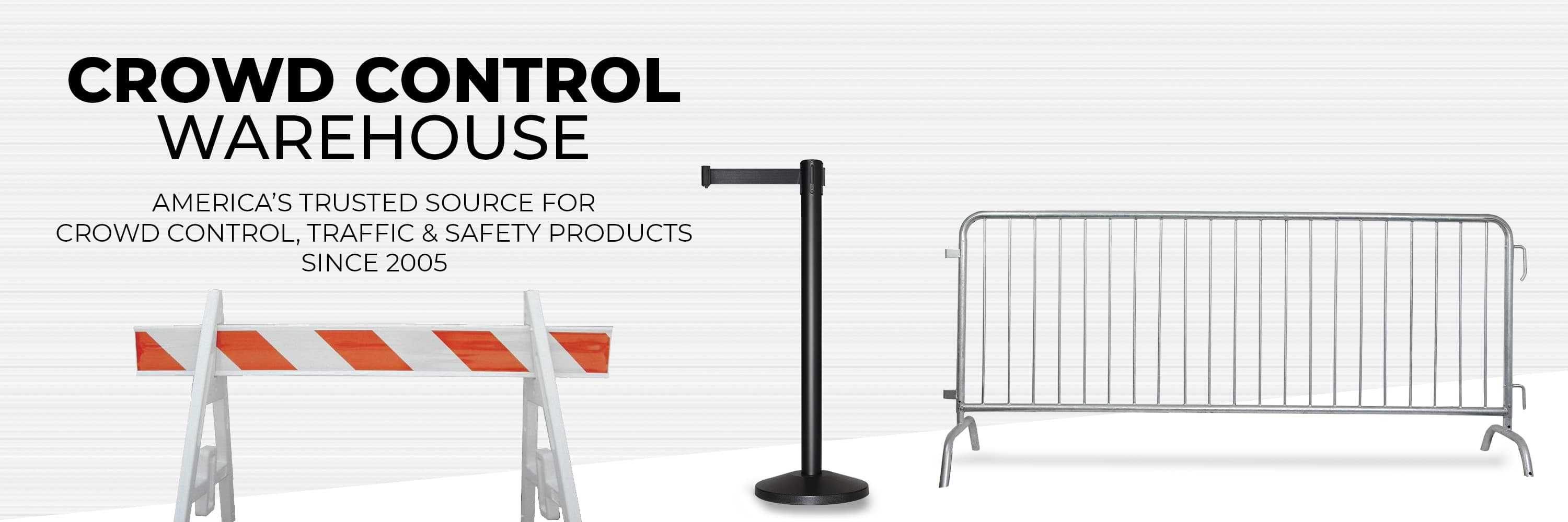Crowd Control Warehouse | Belt Barriers, Stanchions & Barricades