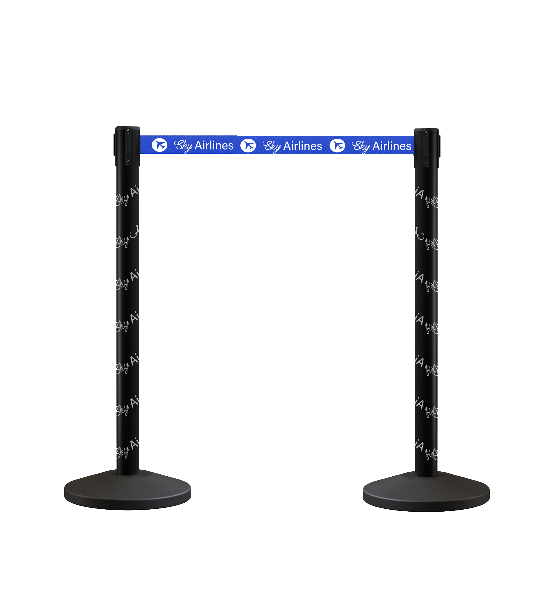 Custom Retractable Belt Barrier Stanchions