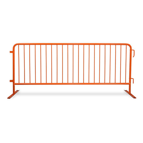 Orange Interlocking Steel Barricade for traffic control