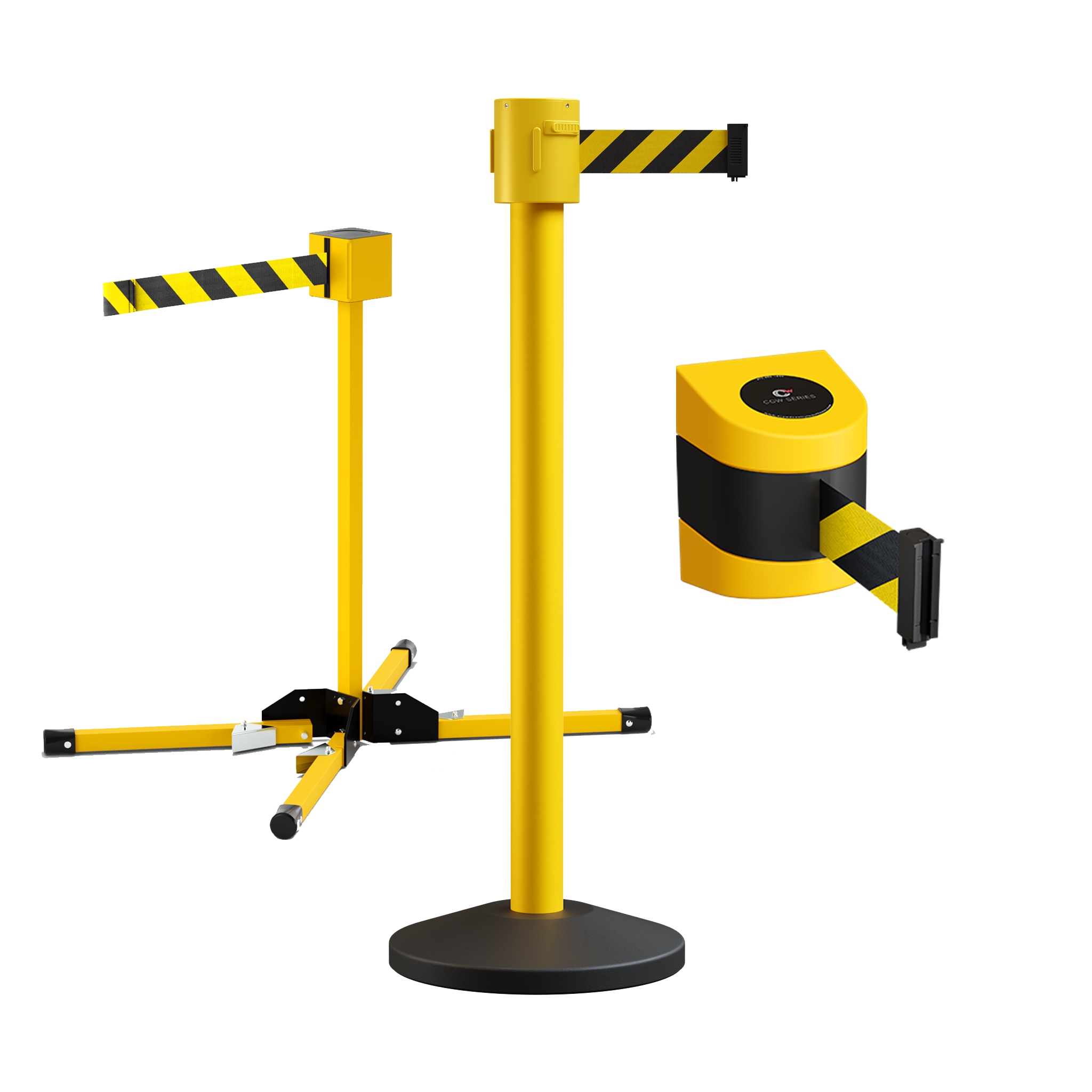 Safety Belt Barrier Stanchions