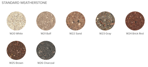 Standard Weatherstone Options