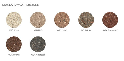 Standard Weatherstone Color Options