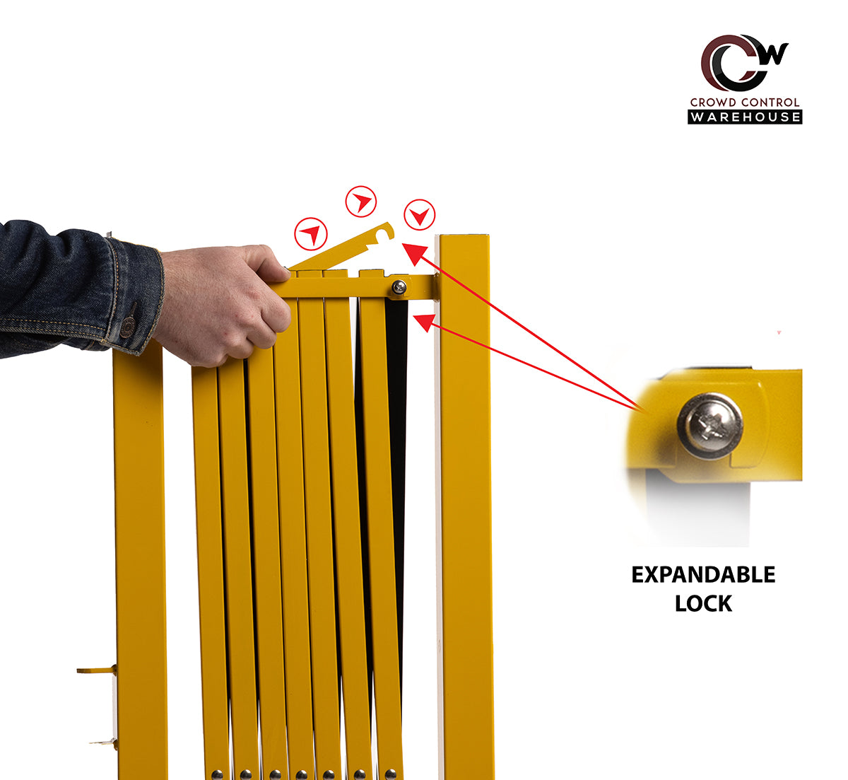 locking expandable barriers