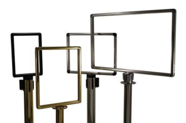 Heavy-Duty Designer Sign Frames Visiontron Retracts-Belt Barriers