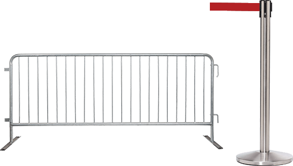 Crowd Control Warehouse Belt Barriers Stanchions
