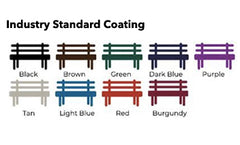 park site furnishings color options