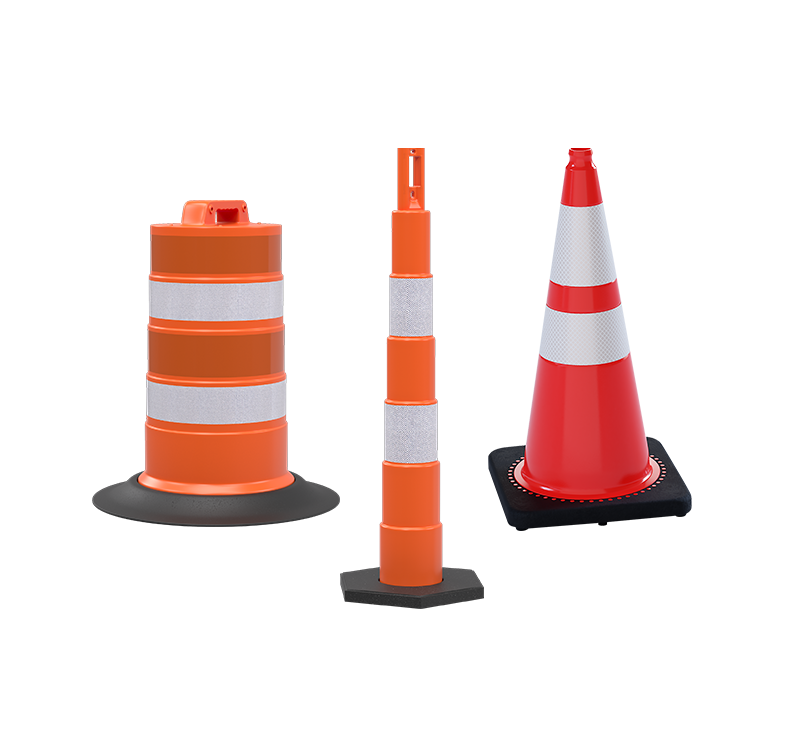 Traffic Barrels & Delineators