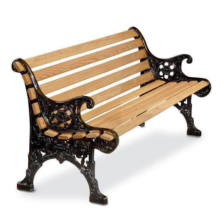 Floral Wood Park Bench - 60 In.