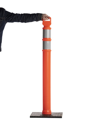 45 in. Delineator Post with Base