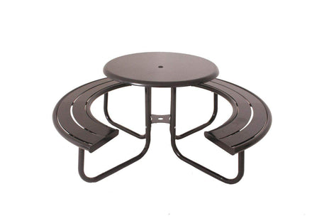 Hartford Round Solid Top Picnic Table - 36 In.