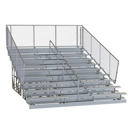 Galvanized Steel Elevated Portable Bleachers - 5, 10, 15 Rows
