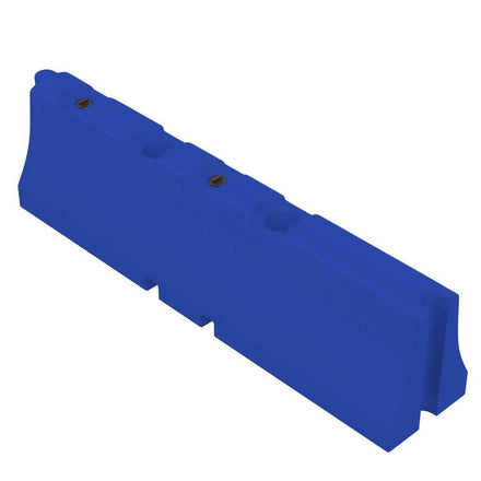 """Blue Water/Sand Fillable Traffic Barrier - 31"""" H x 120"""" L x 24"""" W"""