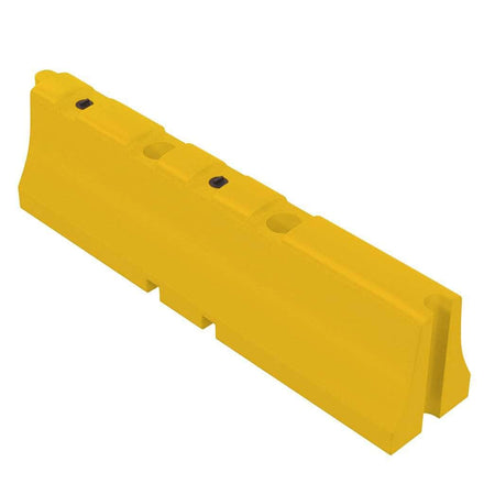 """Yellow Water/Sand Fillable Traffic Barrier - 31"""" H x 120"""" L x 24"""" W"""