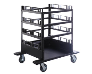 Deluxe 12-Post Stanchion Storage Cart