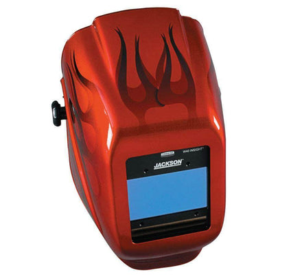 Jackson Safety Insight Digital Variable ADF Welding Helmet - Red Flames