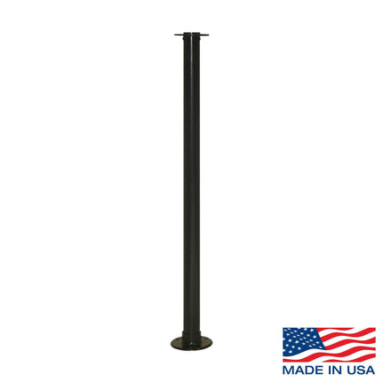Fixed Floor Mount Rope Stanchion with Flat Top