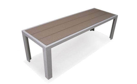 Modern Aluminum Park Bench with Recycled Plastic Seat with Anchor Kit