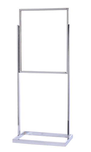 Bulletin Sign Stand with Rectangular Tubing Base