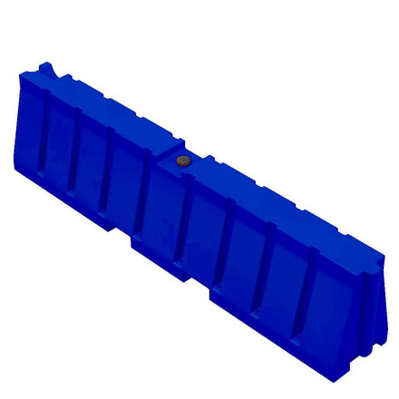 """Blue Water/Sand Fillable All Purpose Roadway or Airport Barricade - 24"""" H x 96"""" L x 16"""" W"""