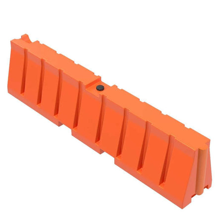 """Orange Water/Sand Fillable All Purpose Roadway or Airport Barricade - 24"""" H x 96"""" L x 16"""" W"""